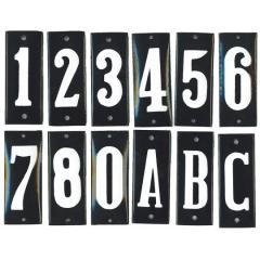 Huisnummerbord 'smal' zwart