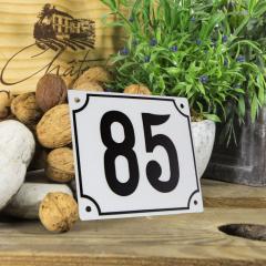 Huisnummerbord groot wit nummer 85
