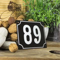 Huisnummerbord groot zwart nummer 89