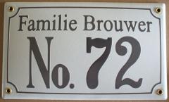 Naambord 25 x 15 cm
