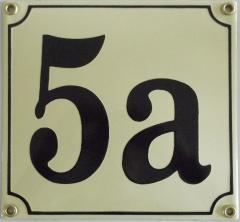 Huisnummerbord 'extra 17x17' 3 cijfers/letters