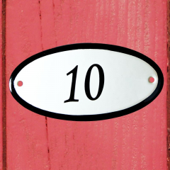 Huisnummerbordje ovaal nummer 9