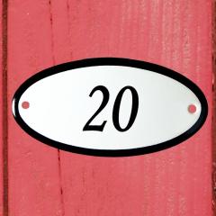 Huisnummerbordje ovaal nummer 19