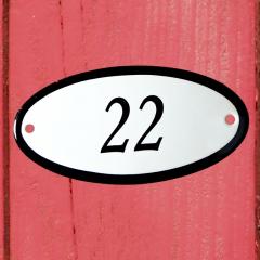 Huisnummerbordje ovaal nummer 21