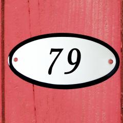 Huisnummerbordje ovaal nummer 78