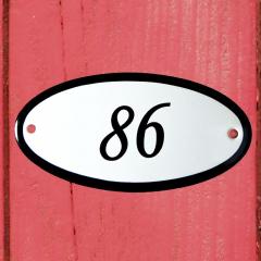 Huisnummerbordje ovaal nummer 85