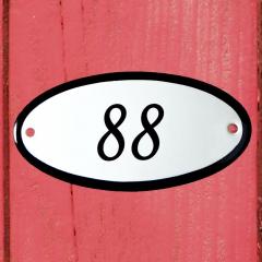 Huisnummerbordje ovaal nummer 87