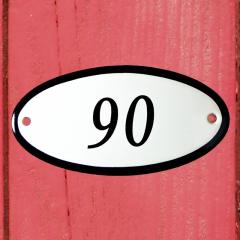 Huisnummerbordje ovaal nummer 89