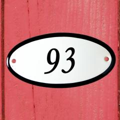 Huisnummerbordje ovaal nummer 92