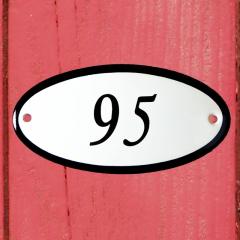 Huisnummerbordje ovaal nummer 94