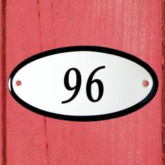 Huisnummerbordje ovaal nummer 95
