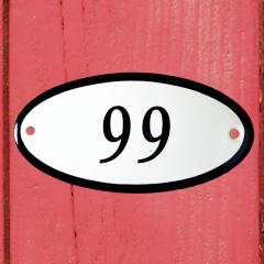 Huisnummerbordje ovaal nummer 98