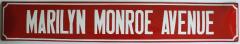 Straatnaambord Marilyn Monroe Avenue