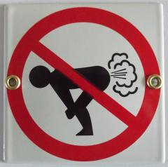 Pictogram: verboden winden te laten