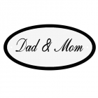 Deurbord Dad & Mom
